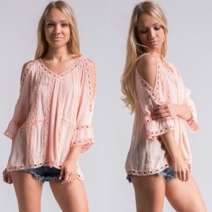 Sale Cold Shoulder Blouse
